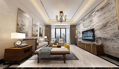 国际公馆香榭里300平新中式风格装修效果图