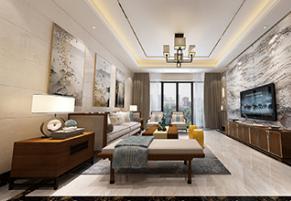 世纪城国际公馆香榭里300m²新中式风格装修案例