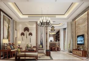 鼎峰尚境450m²新中式风格装修案例